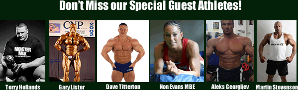 Our special guests include Terry Hollands, Dave Titterton,Gary Lister, Non Evans MBE, Aleks Georgijev, Martin Stevenon